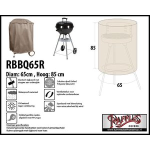 Barbecuehoes voor ronde barbecue, 65 cm H: 85 cm