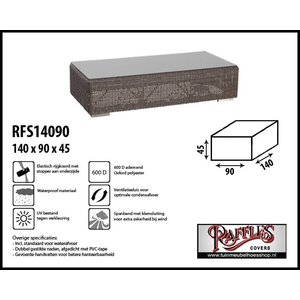 Hoes voor lounge tafel, 140 x 90 H: 45 cm