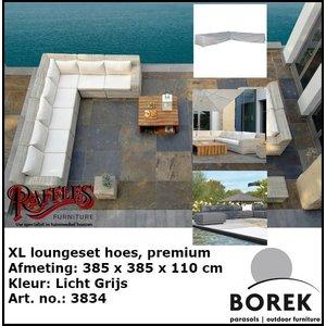 Loungesethoes hoekbank, 385 x 385 H: 65 cm
