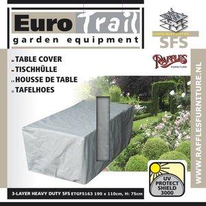 Beschermhoes voor een rechthoekige tuintafel, 190 x 110 H: 75 cm