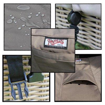Raffles Covers Hoes voor loungeset hoekbank 220 x 220 x 90, H: 70 cm