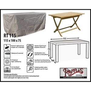 Raffles Covers RT115, 115 x 100 H: 75 cm, taupe.