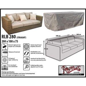 Raffles Covers RLB280straight, 280 x 100 H: 75 cm, taupe