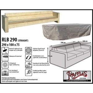 Raffles Covers RLB290straight, 290 x 100 H: 75 cm, taupe