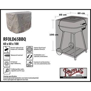 Raffles Covers RFOLD65bbq, 60 x 60 H: 100 cm, taupe