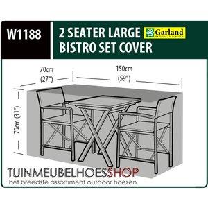 Cafe Set Hoes 150x70 H: 79 cm