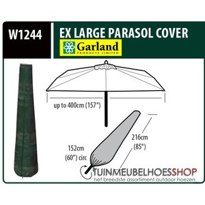 Hoes voor tuinparasol H: 216 cm