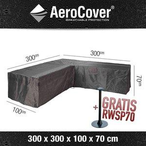 Hoes voor L-vormige loungeset, 300 x 300 H: 70 cm