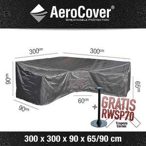 Hoes voor hoge hoekbank, 300 x 300 H: 90 - 65 cm