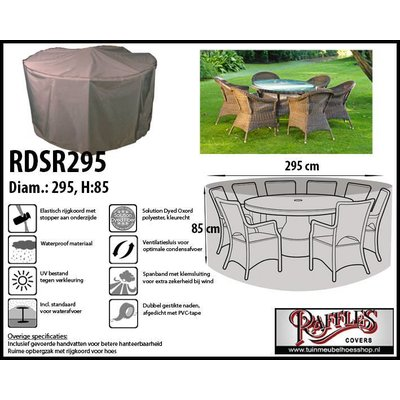 Raffles Covers Ronde tuinsethoes D: 295 cm & H: 85 cm