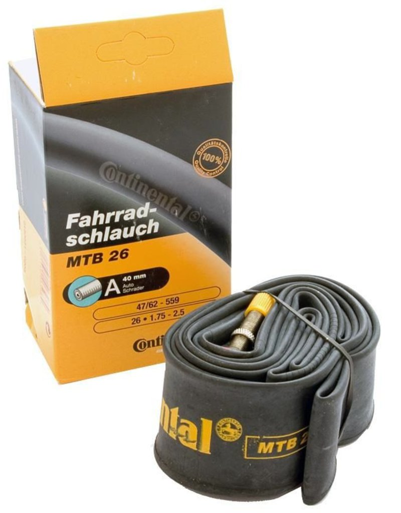 Continental High Quality Butyl MTB Tube available in various sizes. (RRP £5.99)