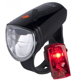 Axa Greenline 15 Lux Rechargeable light Set
