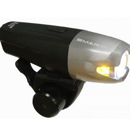 Smart Suburb 800 BL188W (800 Lumens / 200 LUX) Front USB Rechargeable Light in Silver Alu/Black