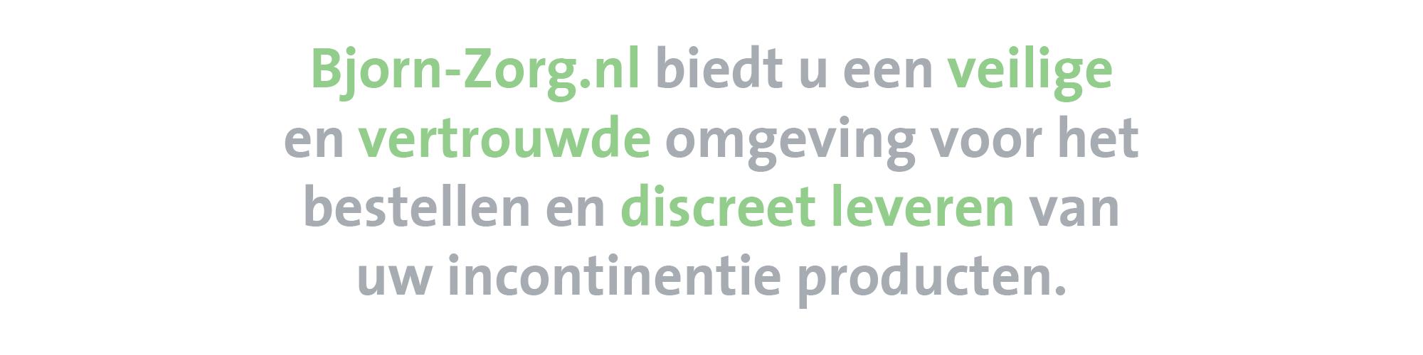 Bjorn-Zorg.nl - De nummer één webwinkel op het gebied van incontinentiematerialen! banner 2