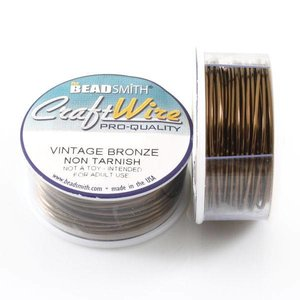 BeadSmith Craft Wire 'Vintage Bronze' 16-28 gauge