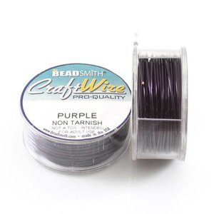 BeadSmith Craft Wire 'Purple' 18-28 gauge