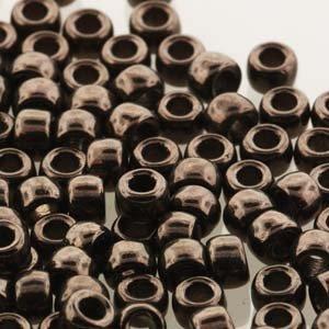 Matubo kralen 7/0 Jet Copper Luster (tube 7,5 gr)