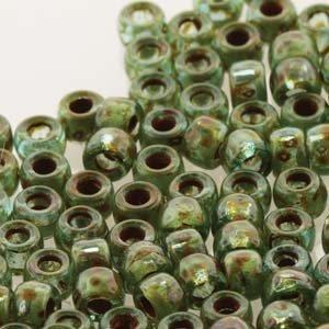Matubo kralen 7/0 Aquamarine Tavertine (tube 7,5 gr)