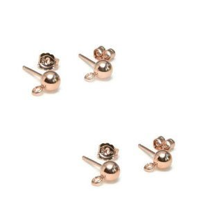 Rose Goldfilled 14 kt Oorstekers 4 mm