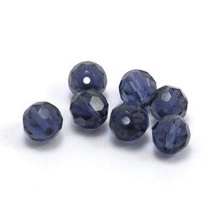 Facet Kraal Donkerblauw 8 mm (per stuk)