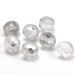 Facet Kraal  Zilver/Helde 10 mm (per stuk)