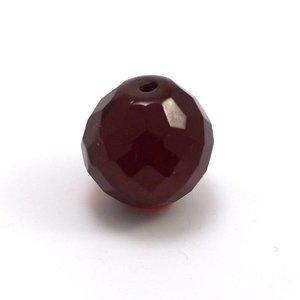 Facetkraal Groot Rood 18 mm (per stuk)