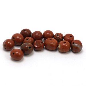 Jaspis - rode jaspis pebble ca. 6 mm (per stuk)