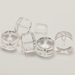 Bergkristal kralen 12x9 mm rondel (per stuk)