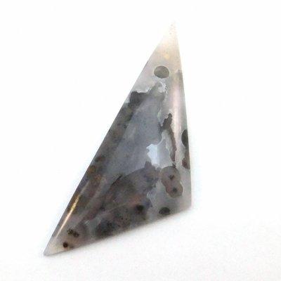 Agaat edelsteen hanger 74x28x8 mm (per stuk)