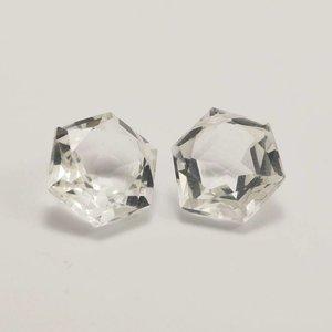 Bergkristal briolette 14x14 mm (per stuk)