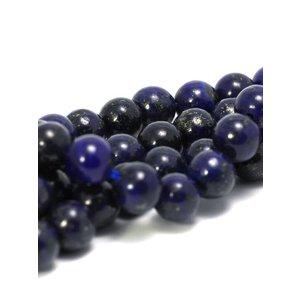 Lapis lazuli kralen 6 mm rond (streng)