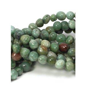 Jade kralen 'african jade' pebbles (streng)
