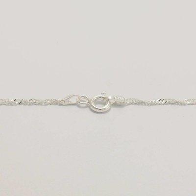 925 zilveren ketting 45 cm, 1,5 mm