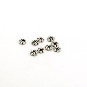 OP=OP 925 zilver rondel kraal 4 x 1 mm