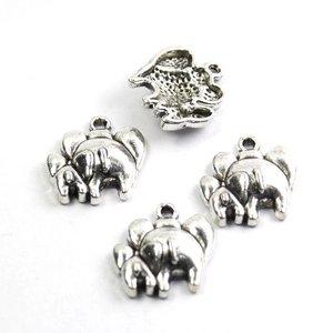 Bedel olifanten 17x15x3 mm (4st)