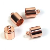 B19- DQ rosegold eindkapje 6,5 mm (p.st)