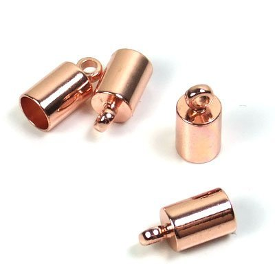 B19- DQ rosegold eindkapje 4 mm (p.st)