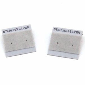 Oorbelkaartjes 'Sterling Silver' (grijs)