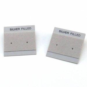 Oorbelkaartjes 'Silver Filled' (grijs)