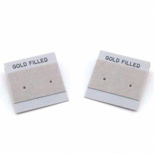 Oorbelkaartjes 'Gold Filled' (grijs)