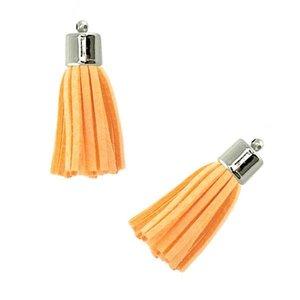 Hanger - Kwastje Zacht Oranje