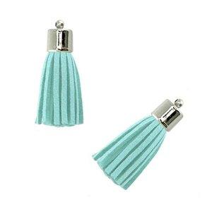 Hanger - Kwastje Aqua Blauw