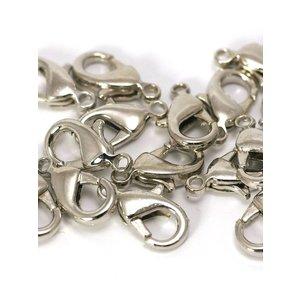 Karabijn sluiting 12x7x3mm antiek zilverkleurig (10st)