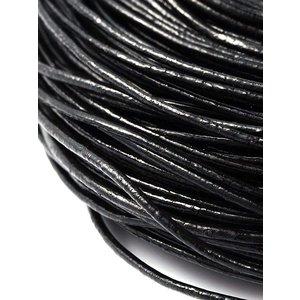 Leer zwart 1,5 mm (p/m)