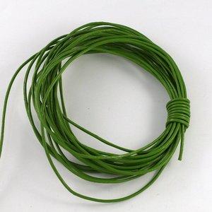 Lederen koord 1,5 mm groen (p/m)