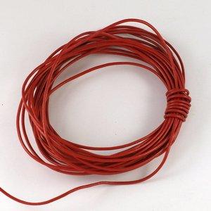 Lederen koord 1,5 mm rood (p/m)
