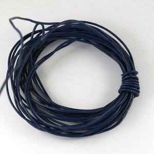Lederen koord 1,5 mm donkerblauw (p/m)