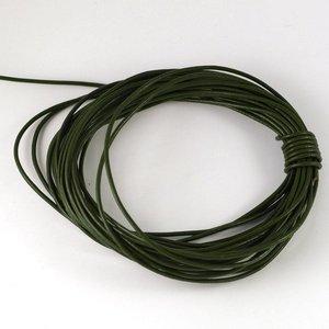 Lederen koord 1,5 mm donkergroen (p/m)