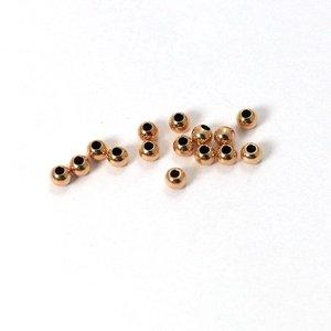 Rose Goldfilled 14kt kralen - rond 2,5 mm 'smooth' voordeel verpakking (100 st)