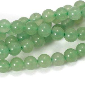 Aventurijn kralen (groen) 6 mm rond (streng)